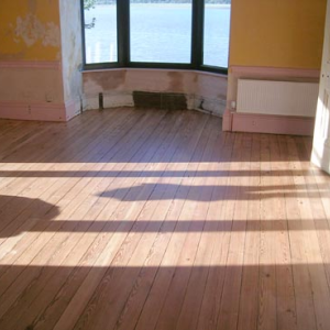Refurbished wooden floor