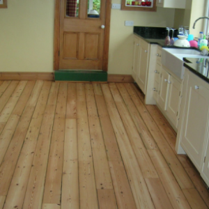 Renewed kitchen wood floor